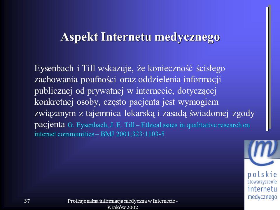 Aspekt Internetu medycznego