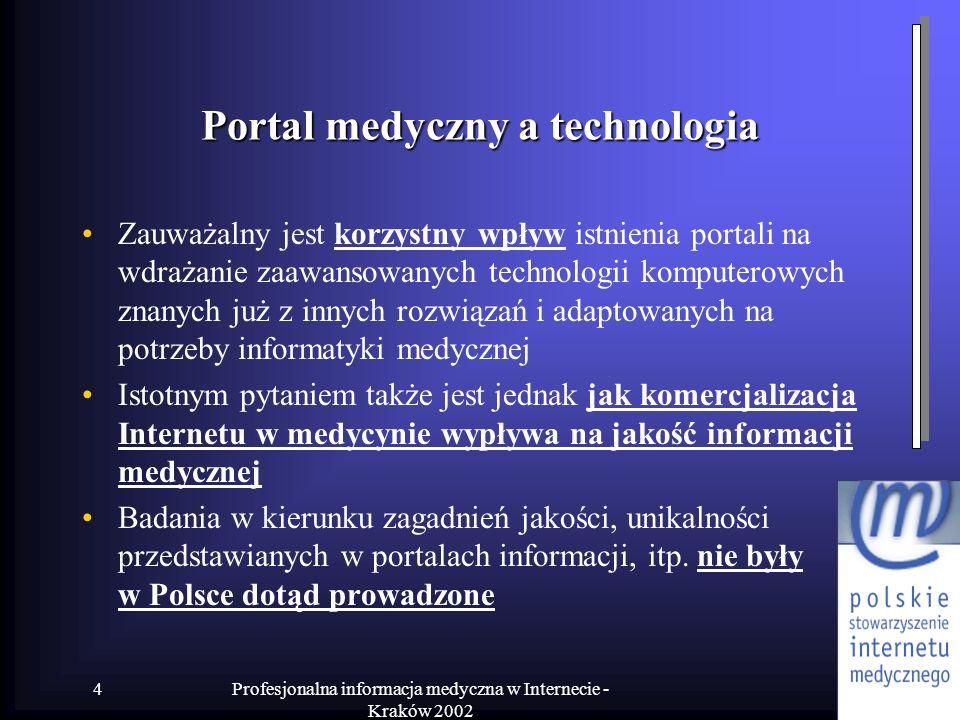 Portal medyczny a technologia