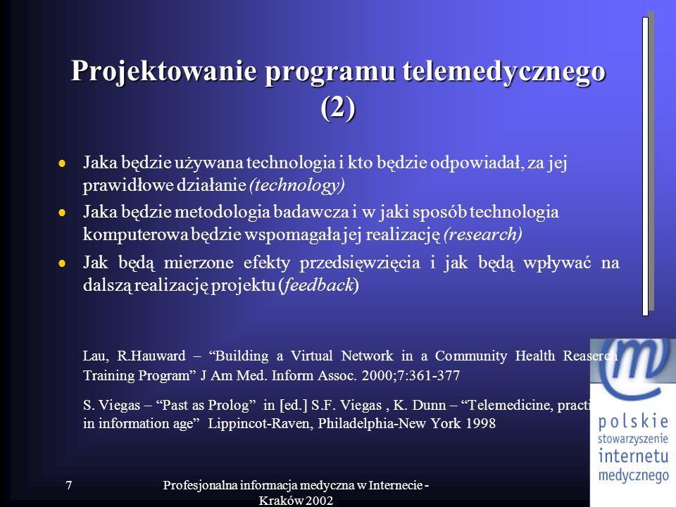 Projektowanie programu telemedycznego (2)