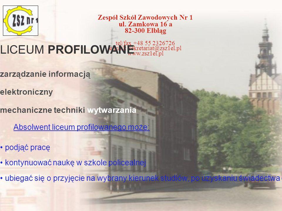LICEUM PROFILOWANE zarządzanie informacją elektroniczny