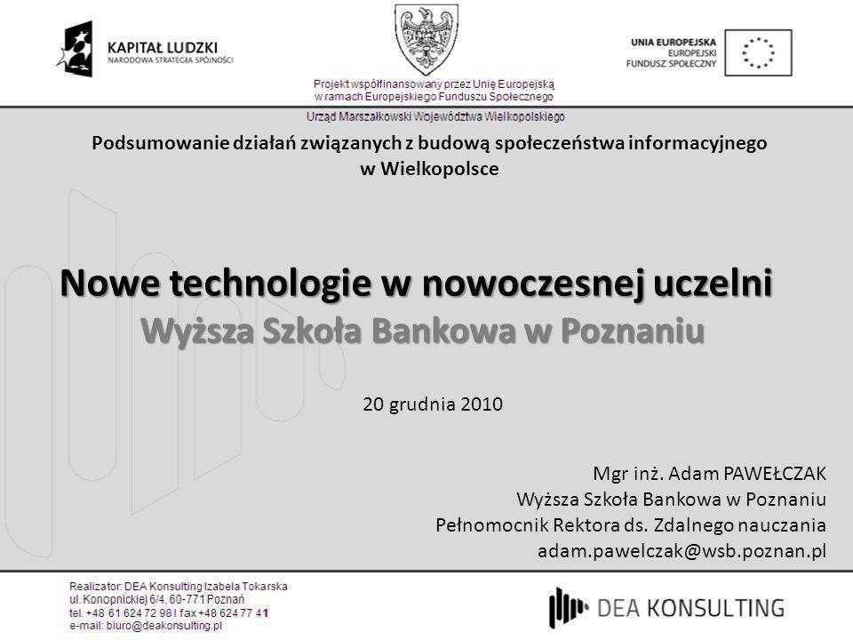 Nowe technologie w nowoczesnej uczelni