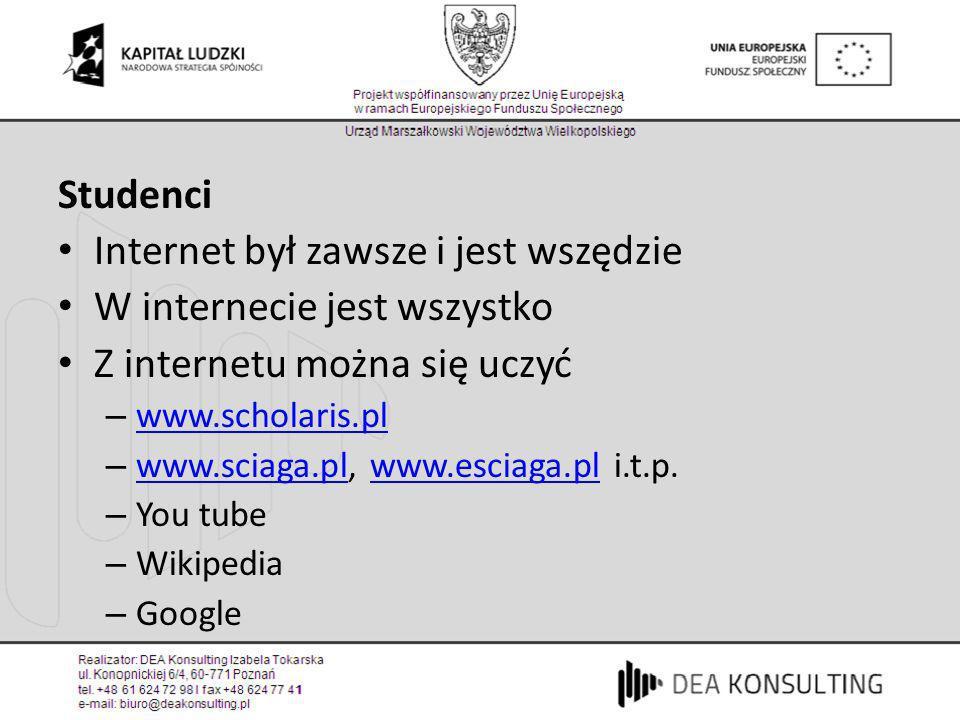 Internet był zawsze i jest wszędzie W internecie jest wszystko