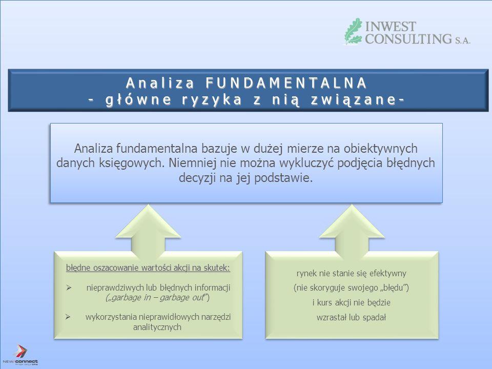 Analiza FUNDAMENTALNA - główne ryzyka z nią związane-