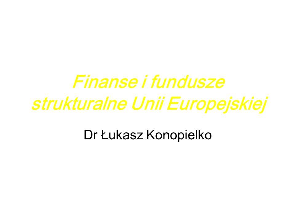 Finanse i fundusze strukturalne Unii Europejskiej