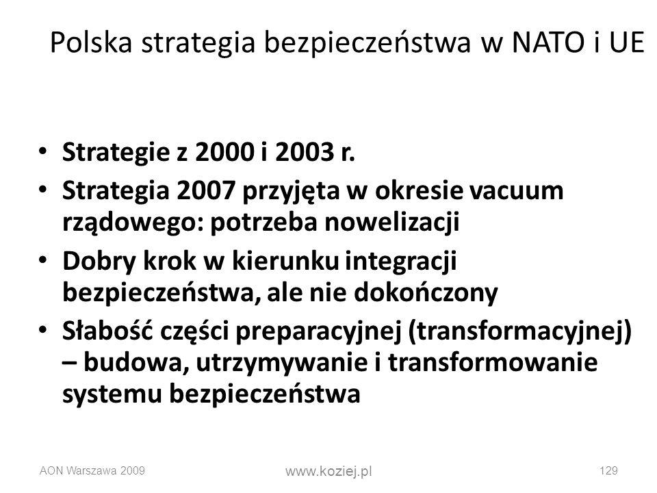 Polska strategia bezpieczeństwa w NATO i UE