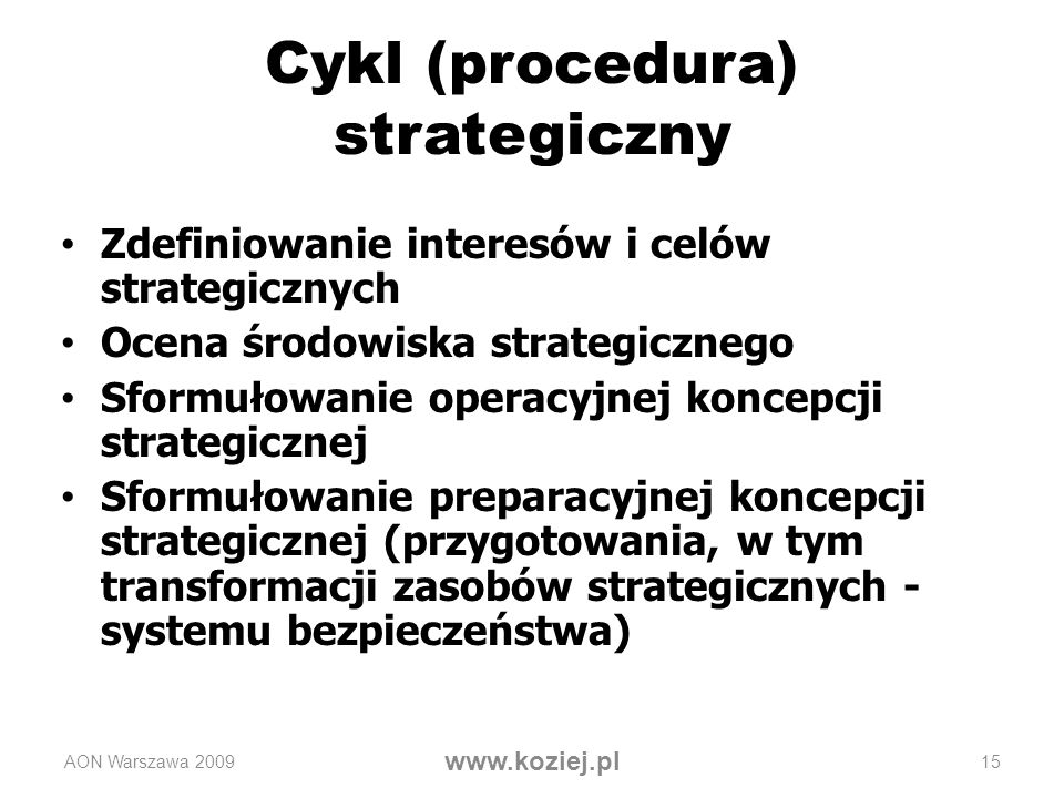 Cykl (procedura) strategiczny