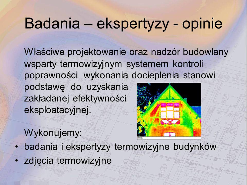 Badania – ekspertyzy - opinie
