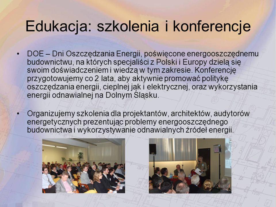 Edukacja: szkolenia i konferencje