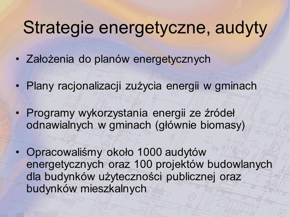 Strategie energetyczne, audyty