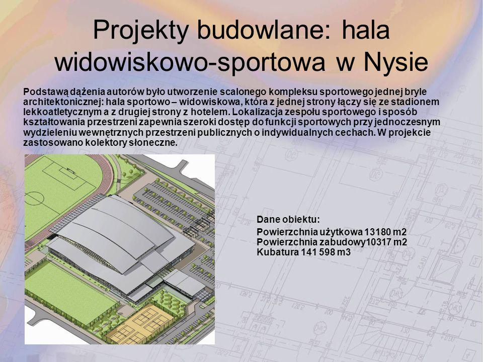 Projekty budowlane: hala widowiskowo-sportowa w Nysie