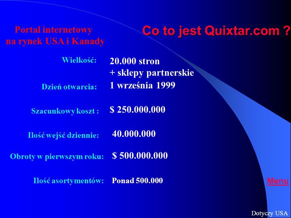 Co to jest Quixtar.com Portal internetowy na rynek USA i Kanady