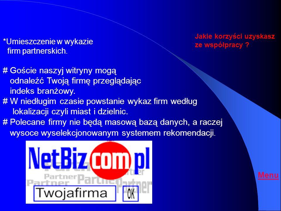 # Goście naszyj witryny mogą odnaleźć Twoją firmę przeglądając