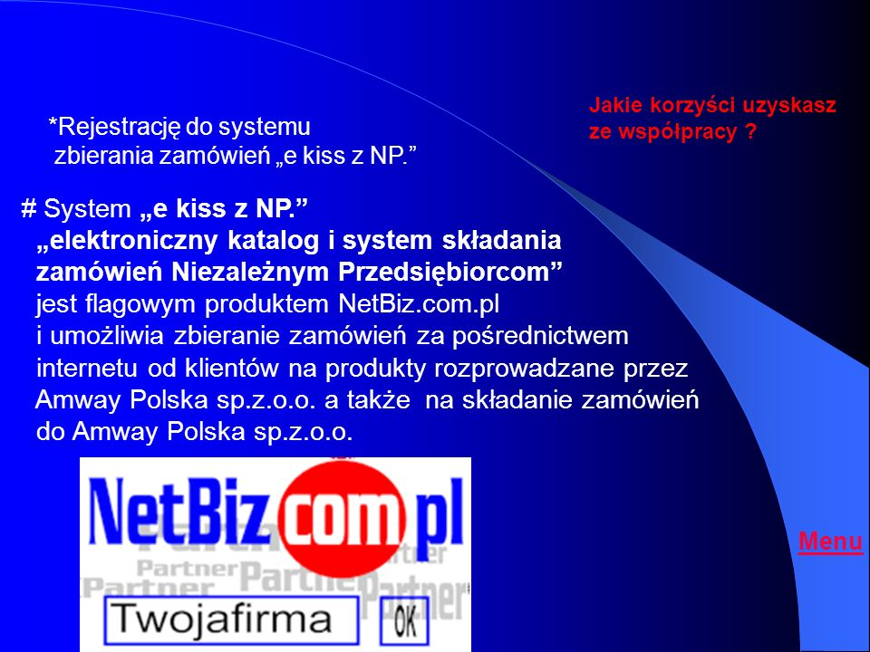 """""""elektroniczny katalog i system składania"""