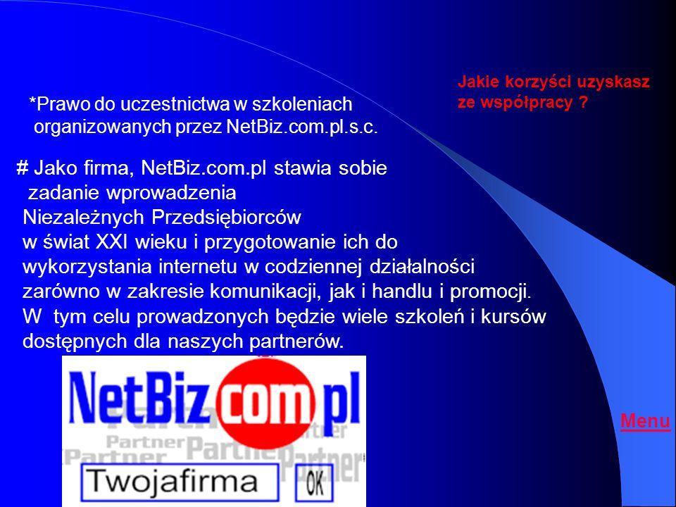 # Jako firma, NetBiz.com.pl stawia sobie zadanie wprowadzenia