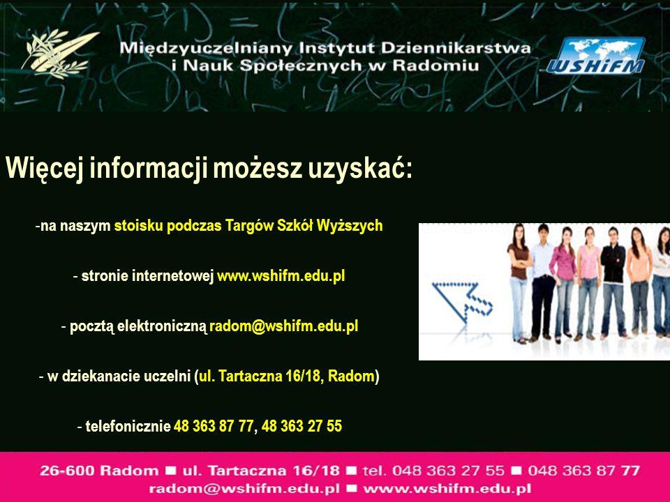 Więcej informacji możesz uzyskać:
