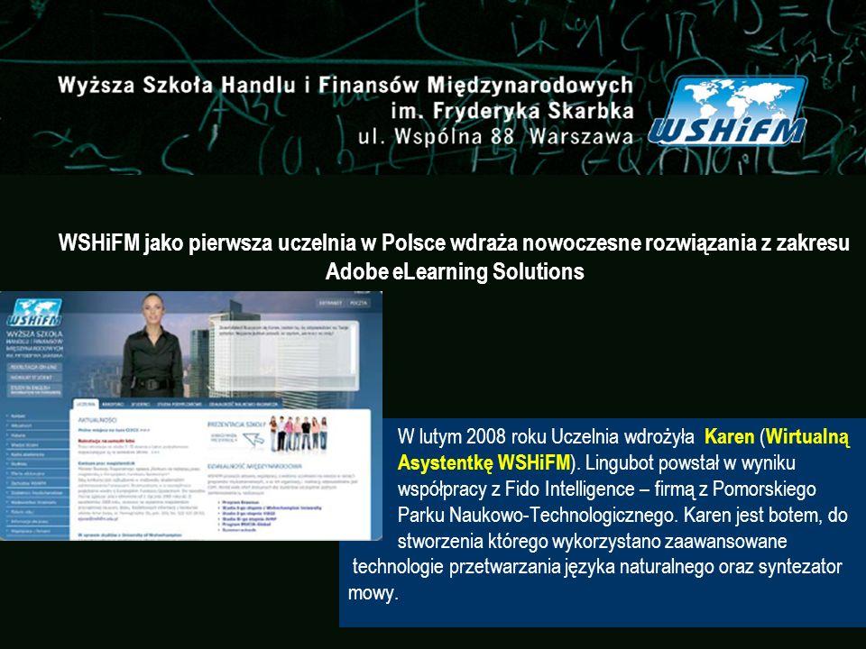 WSHiFM jako pierwsza uczelnia w Polsce wdraża nowoczesne rozwiązania z zakresu Adobe eLearning Solutions