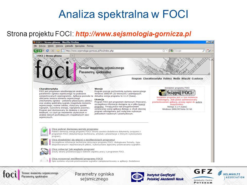 Analiza spektralna w FOCI