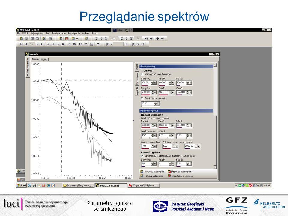Przeglądanie spektrów