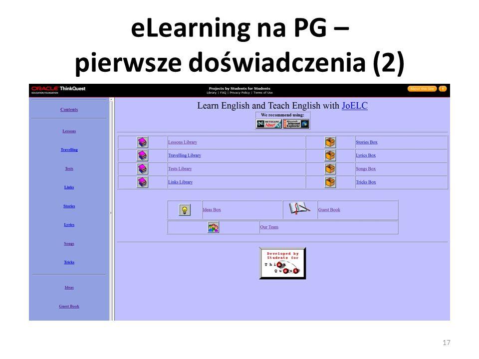 eLearning na PG – pierwsze doświadczenia (2)