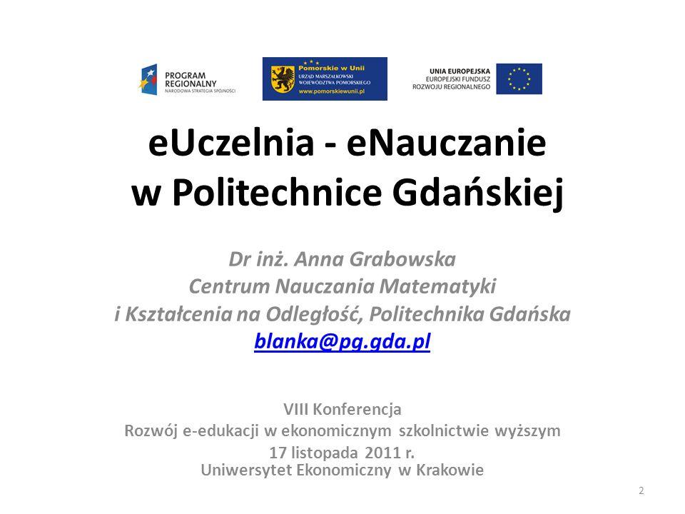 eUczelnia - eNauczanie w Politechnice Gdańskiej