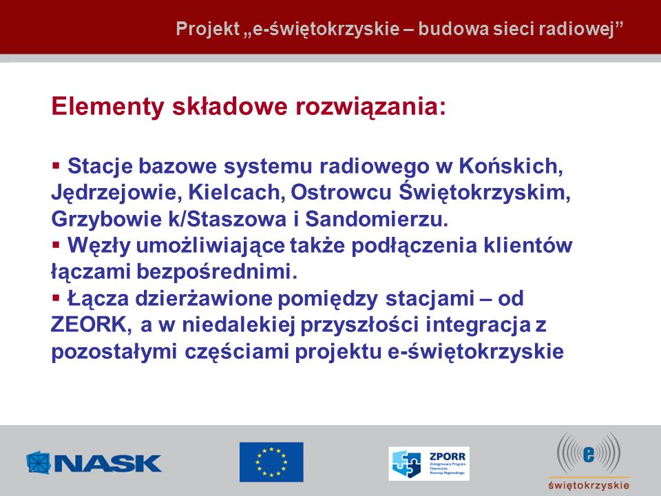 Elementy składowe rozwiązania: