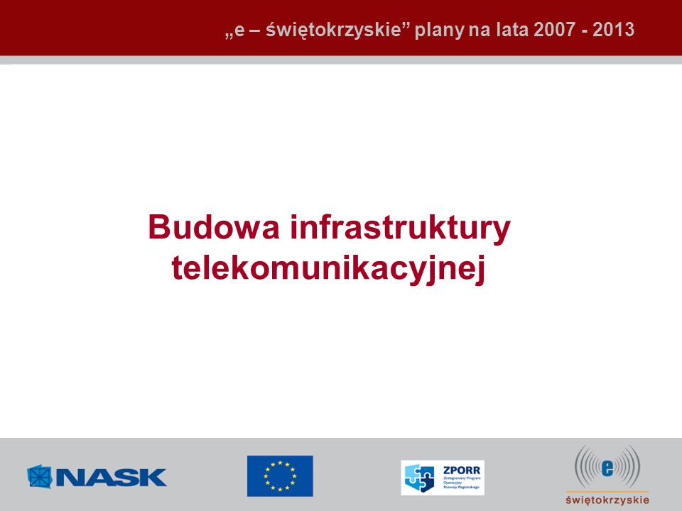Budowa infrastruktury