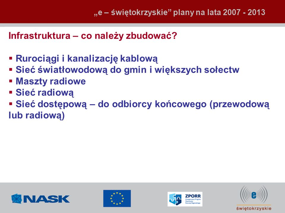 Infrastruktura – co należy zbudować Rurociągi i kanalizację kablową
