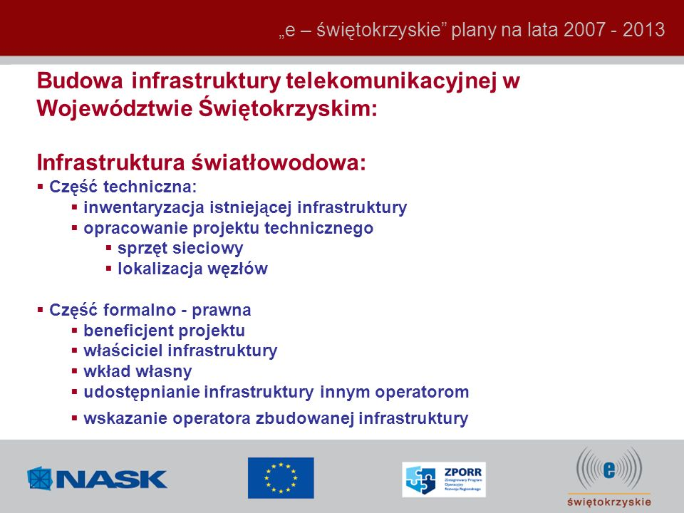 Infrastruktura światłowodowa: