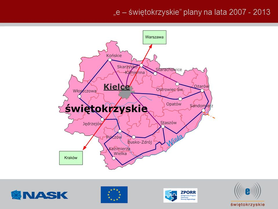 """e – świętokrzyskie plany na lata 2007 - 2013"