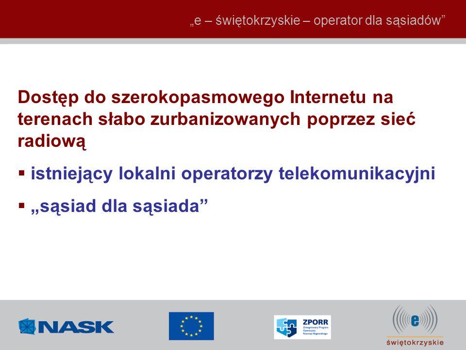 """istniejący lokalni operatorzy telekomunikacyjni """"sąsiad dla sąsiada"""