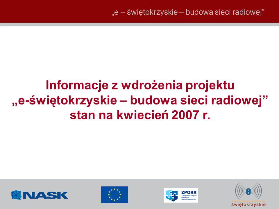 Informacje z wdrożenia projektu