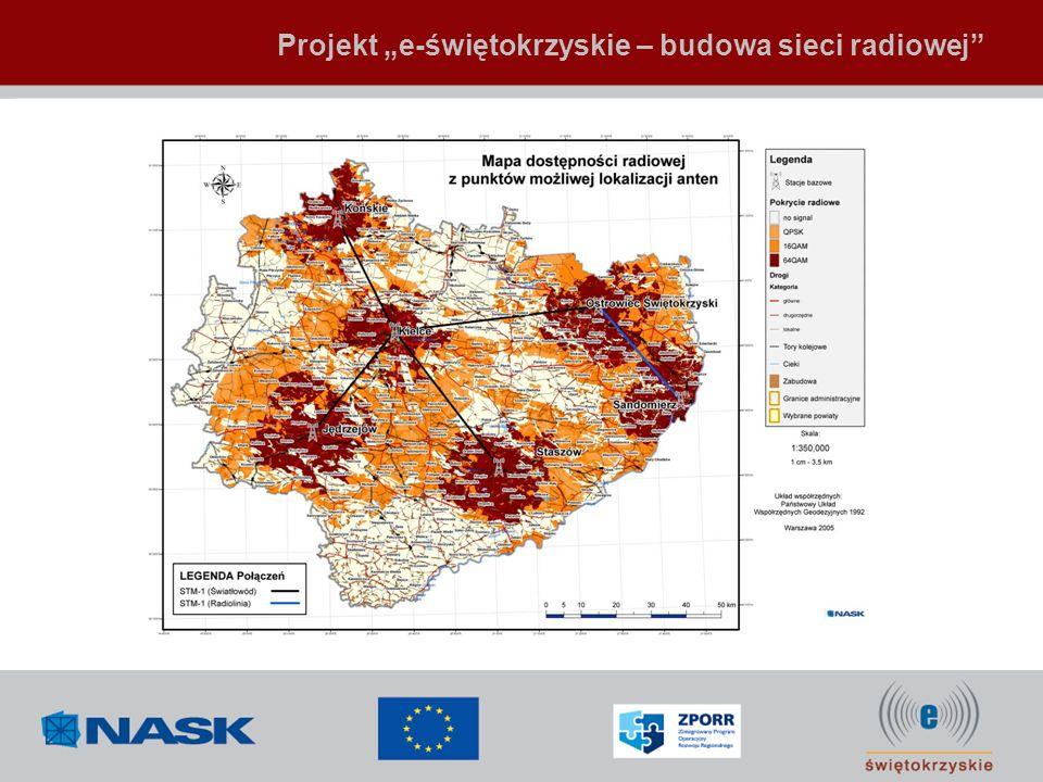 """Projekt """"e-świętokrzyskie – budowa sieci radiowej"""