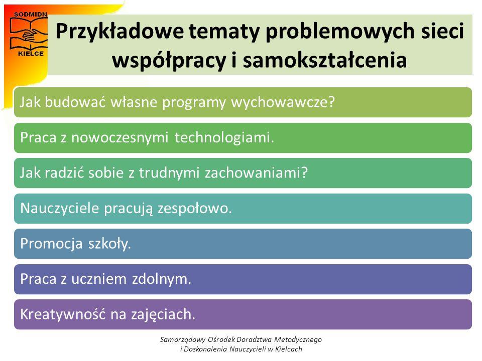Przykładowe tematy problemowych sieci współpracy i samokształcenia