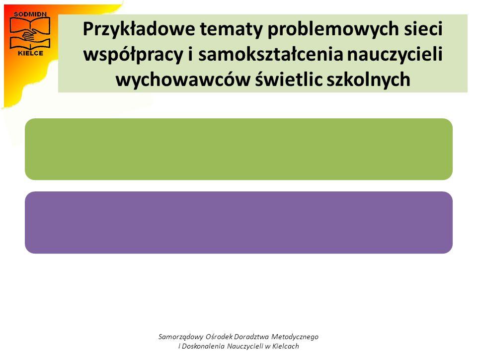 Przykładowe tematy problemowych sieci współpracy i samokształcenia nauczycieli wychowawców świetlic szkolnych