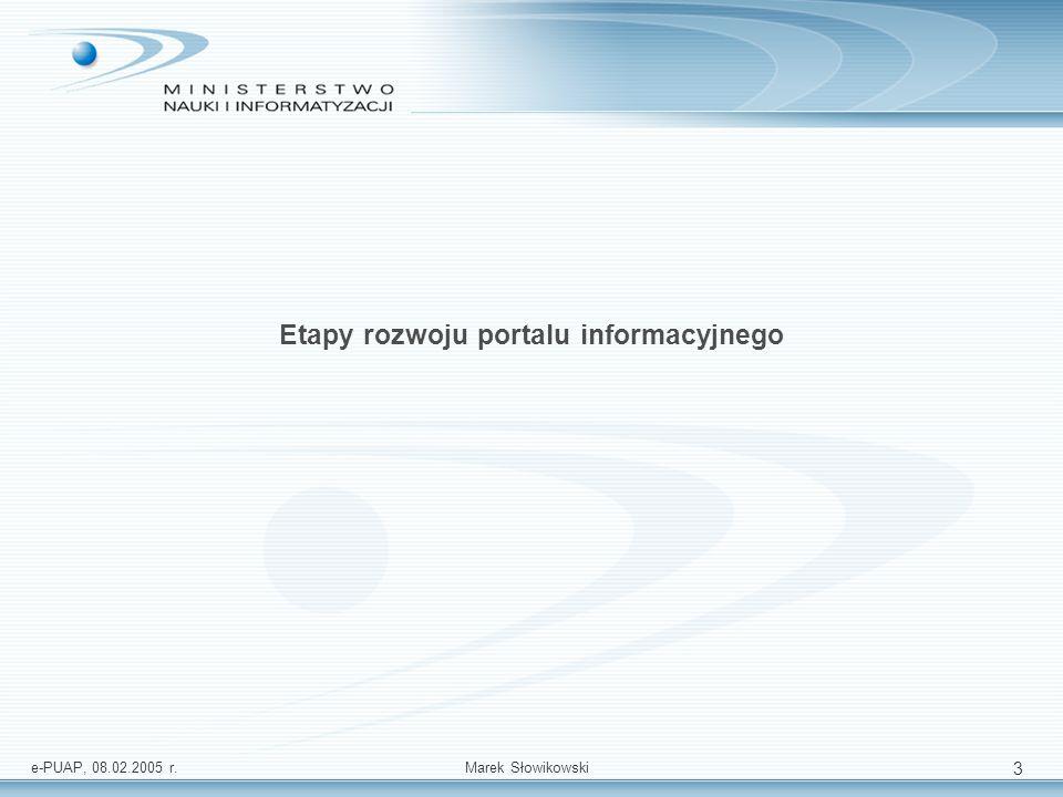 Etapy rozwoju portalu informacyjnego