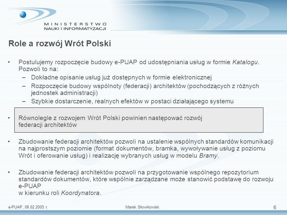 Role a rozwój Wrót Polski