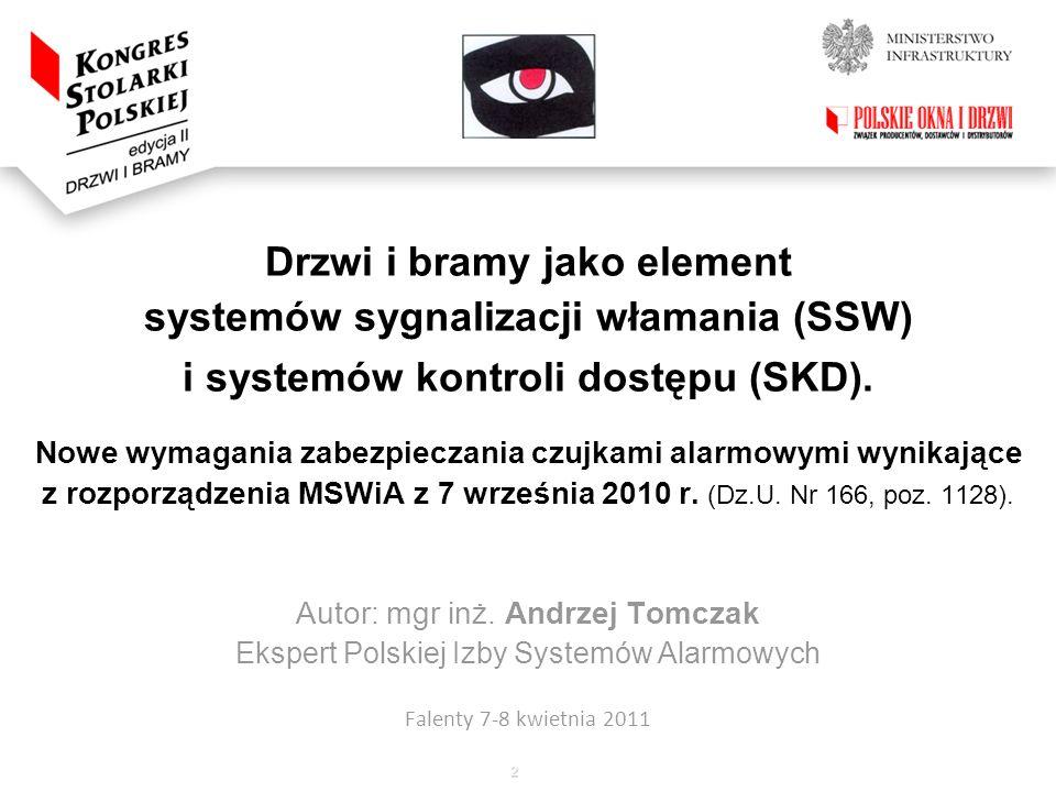 Drzwi i bramy jako element systemów sygnalizacji włamania (SSW)