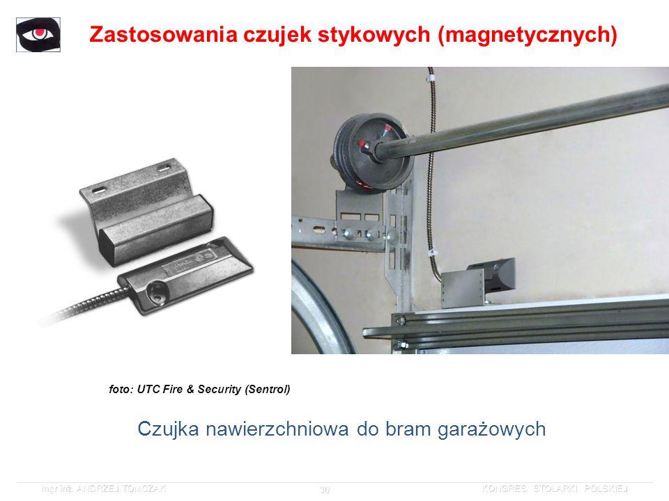 Zastosowania czujek stykowych (magnetycznych)