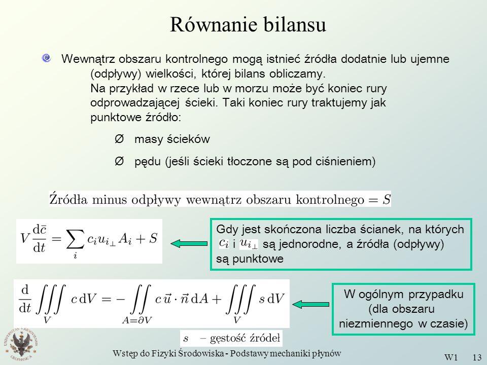 Równanie bilansu
