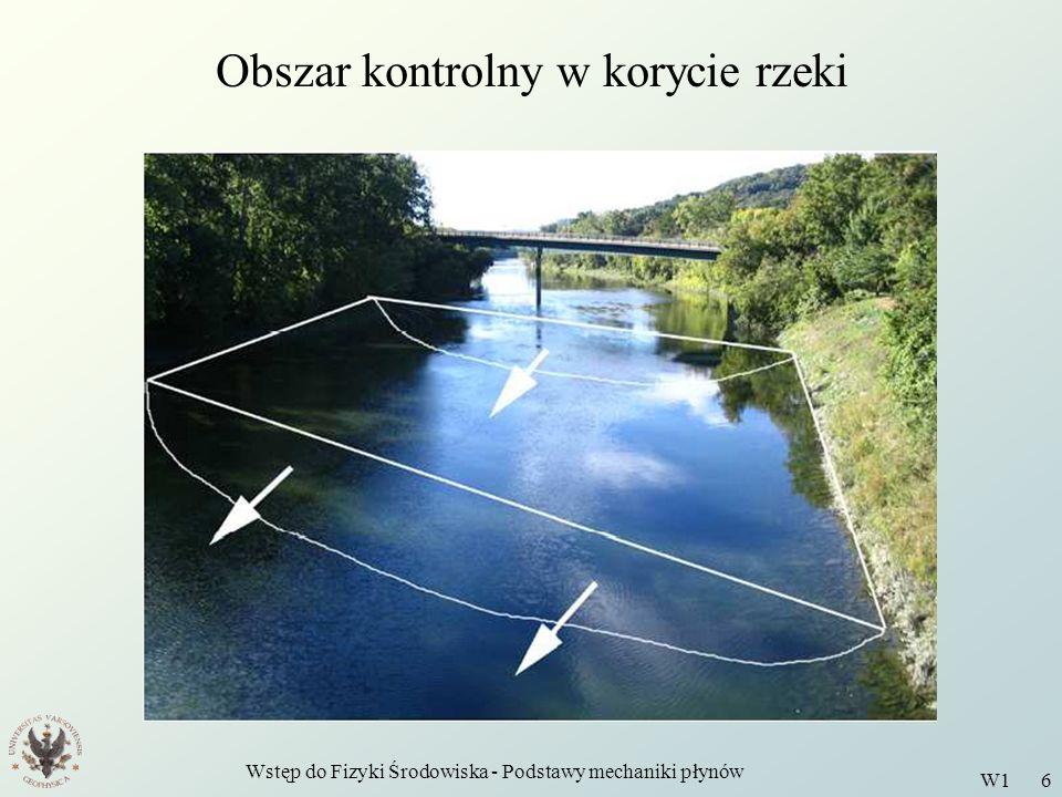 Obszar kontrolny w korycie rzeki