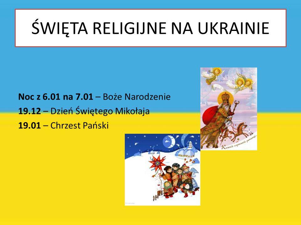ŚWIĘTA RELIGIJNE NA UKRAINIE