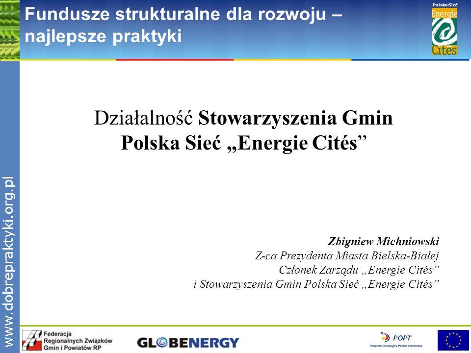 """Działalność Stowarzyszenia Gmin Polska Sieć """"Energie Cités"""