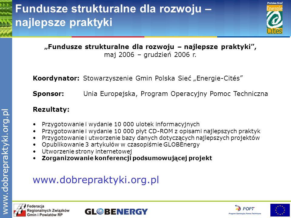 """""""Fundusze strukturalne dla rozwoju – najlepsze praktyki ,"""