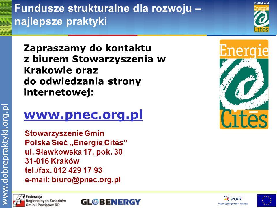www.pnec.org.pl Fundusze strukturalne dla rozwoju – najlepsze praktyki