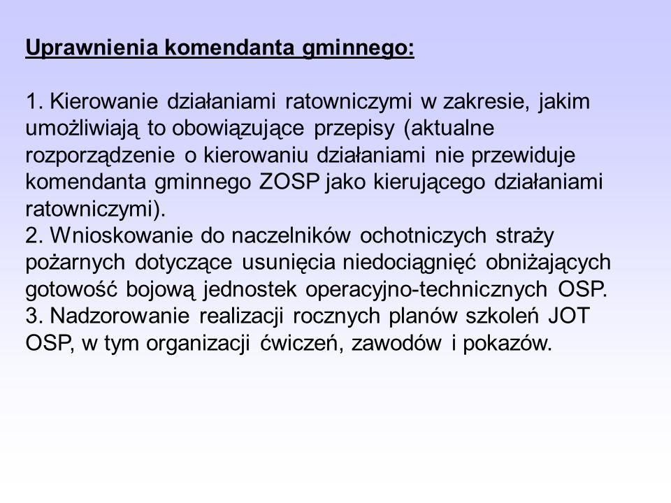 Uprawnienia komendanta gminnego: