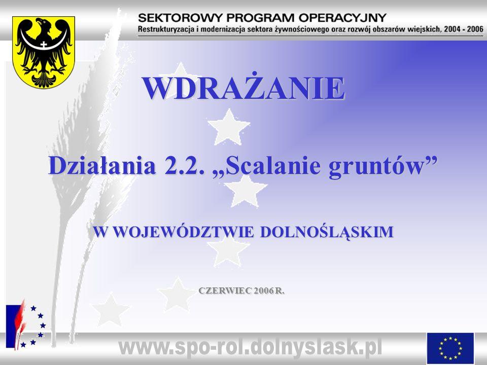 """WDRAŻANIE Działania 2.2. """"Scalanie gruntów"""