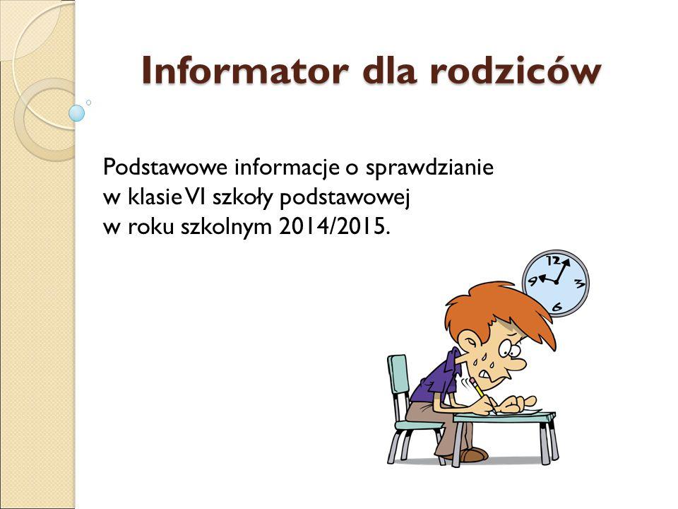 Informator dla rodziców