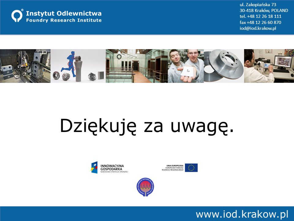 Dziękuję za uwagę. www.iod.krakow.pl