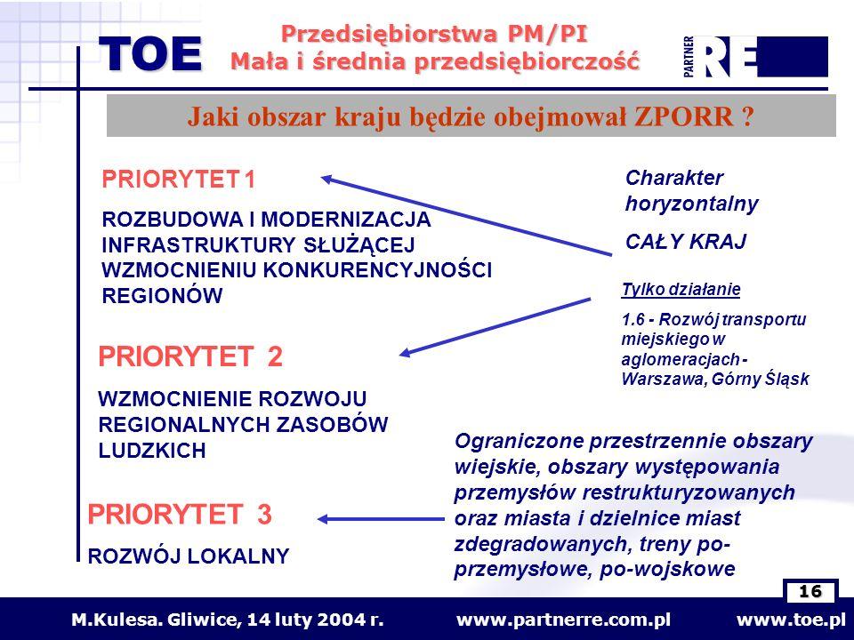 Jaki obszar kraju będzie obejmował ZPORR