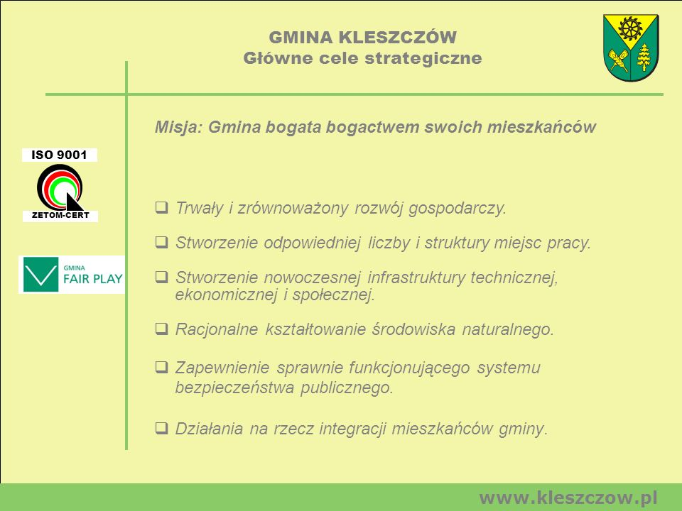 Główne cele strategiczne